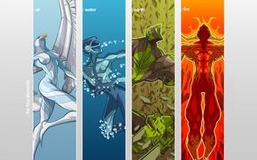 Picture elements, vector, Heroes