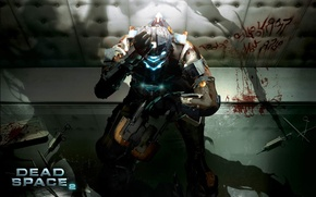 Picture wall, the inscription, blood, Isaac, dead space 2, waiting for release