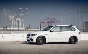 Picture BMW, white, tuning, X5M