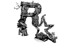 Picture technique, emblem, Rockstar