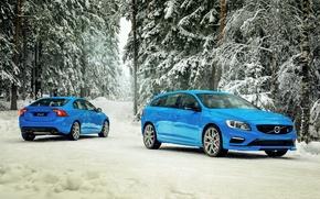 Picture winter, snow, Volvo, Volvo, S60, 2015