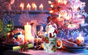 Picture table, Paris, mug, maiden, Santa Claus, 2014, Gift And Home, new year