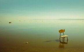 Picture sea, chair, stranded