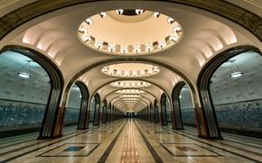 Picture the Moscow metro, Mayakovskaya, Zamoskvoretskaya line