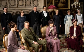 Picture the series, actors, drama, characters, Downton Abbey