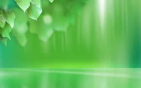 Wallpaper leaves, green, minimalism