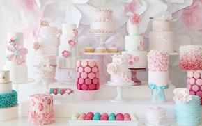 Picture decoration, sweet, cupcakes, cakes, macaron