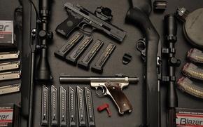 Picture gun, pistol, bullets, weapon, sniper, ammunition, Handgun, armaments