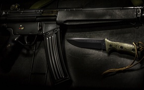 Picture background, knife, rifle, assault, Heckler-Koch