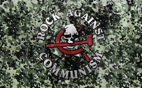 Picture music, Metal, camouflage, Rock, Rock, military, RAC, the genre of music, Rock Against Communism, hammer …