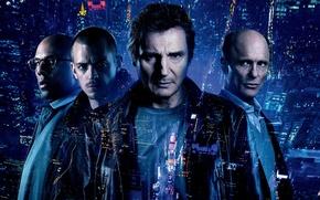 Picture city, cinema, light, actor, man, movie, face, glasses, film, building, Liam Neeson, bald, 2015, Ed …