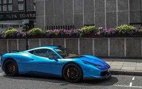 Picture Ferrari, Hamann, 458, Blue, Italia, Supercar