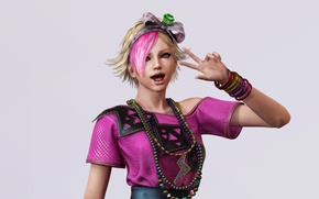Picture look, girl, emo, gesture, Lollipop Chainsaw