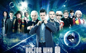 Picture look, space, stars, smile, art, actors, Doctor Who, men, Doctor Who, the TARDIS, tardis