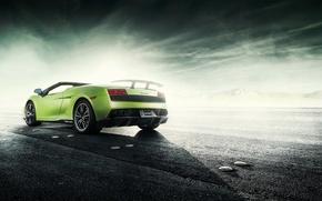 Picture road, spider, lamborghini gallardo, rechange, Lamborghini Gallardo