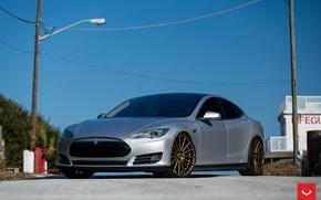 Picture Tesla, Vossen, Wheels, Model S, P85, VFS-2