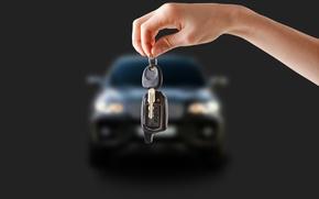 Picture transport, key, car