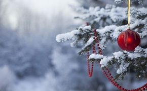 Wallpaper snow, holiday, toys, tree, new year, happy new year, Christmas Wallpaper