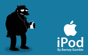 Picture ipod, apple, simpsos, barney