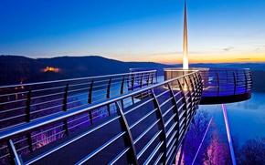 Picture sunset, Germany, glow, North Rhine-Westphalia, Attendorn