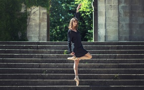 Picture ballerina, dance, Pointe shoes