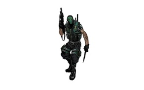 Picture weapons, knife, machine, soldiers, costume, brink