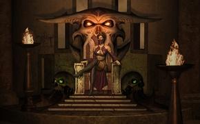 Wallpaper the throne, mortal kombat, mileena, milina