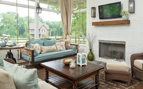 Picture living room, interior, fireplace, design. house