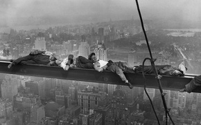 Picture construction, height, home, working, black and white, new york, new York
