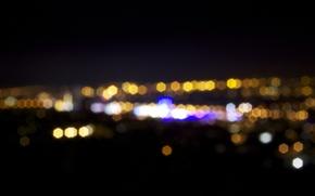 Picture the city, lights, bokeh, BOKEH