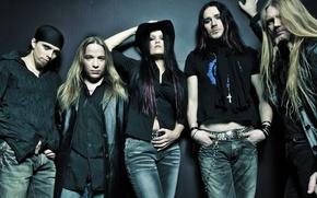Picture girl, hat, Nightwish, Marco, Jukka, Thomas, Erno, Tarja