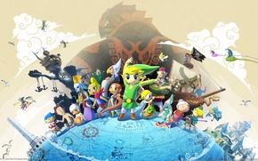 Picture Hero, Nintendo, Link, The Legend of Zelda:The Wind Waker HD