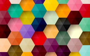 Wallpaper abstraction, background, colors, colorful, abstract, background, honeycomb, hexagon