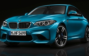 Picture BMW, Blue, Coupe, (2015)