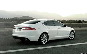 Picture road, white, mountains, Jaguar