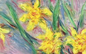 Picture flowers, picture, Claude Monet, Daffodils