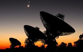 Picture search, The moon, Venus, radio telescope, Australia, SETI, parabolic antenna