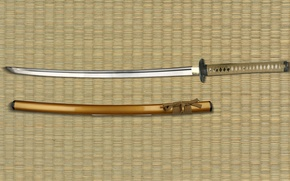 Wallpaper tatame, feudal, Japanese sword, scabbard, blade, subarashii, sword, katana, weapon, sugoi