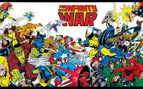 Picture Hulk, Wolverine, X-Men, Daredevil, Thor, Marvel Comics, The Avengers, Fantastic Four, Gambit, Jean Grey, Rouge, …