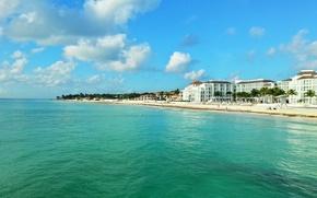 Picture beach, tropics, beauty, Mexico, holiday, tropics