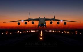 Picture sky, sunset, airplane, sunrise, Mriya, the an-225, runway, an-225, mriya