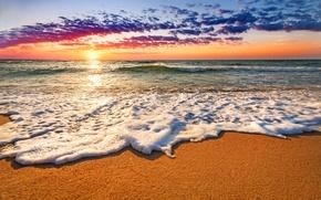 Picture sand, sea, beach, the sky, water, landscape, sunset, nature, the ocean, beach, sky, sea, ocean, ...