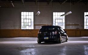 Picture volkswagen, black, Golf, golf, Volkswagen, gti, MK5, rier