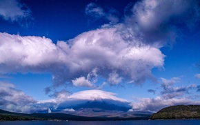Picture the sky, clouds, landscape, mountain