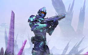 Picture weapons, rocks, soldiers, armor, game wallpapers, PlanetSide 2