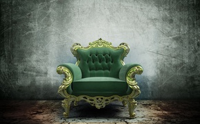 Picture furniture, chair, chair, green, the throne, render