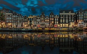 Picture night, the city, Amsterdam