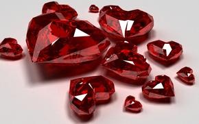 Picture stones, diamonds, hearts