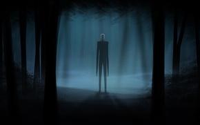 Picture game, art, horror stories, slenderman