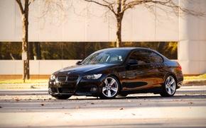 Picture bmw, City, black, cars, auto, 335i, bmw 335i, bmw e92, auto wallper, Сars photography